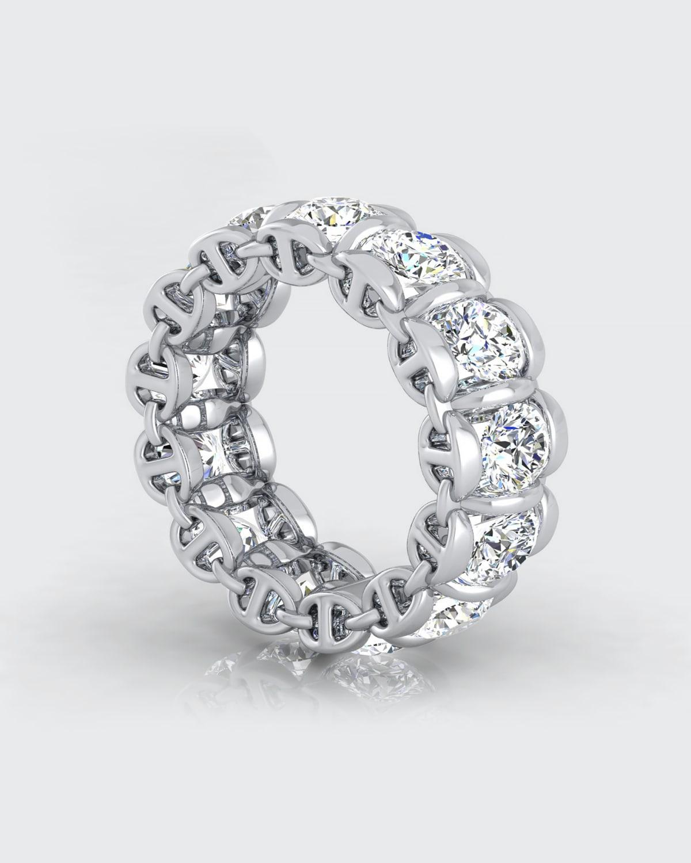 Infinite II 4.5mm Diamond Band in White Gold