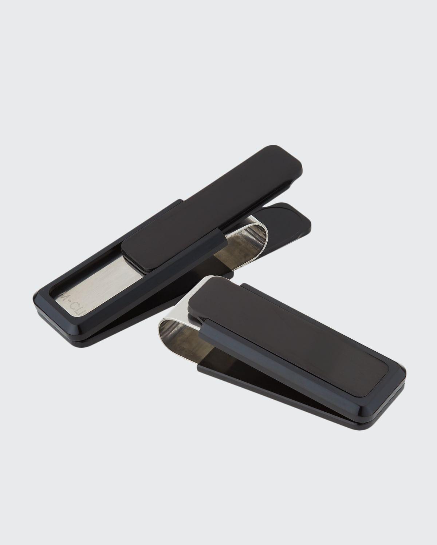 Black-Plated Aluminum-Inset Money Clip
