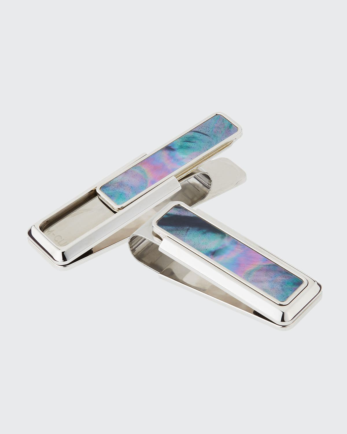 Mother-of-Pearl Stainless Steel Money Clip