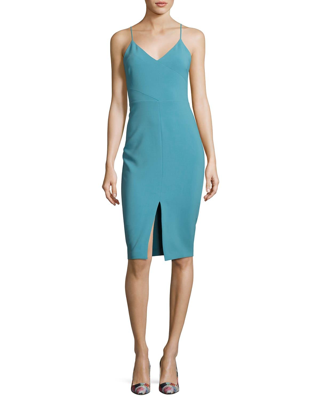 Brooklyn Slit-Front Slip Dress
