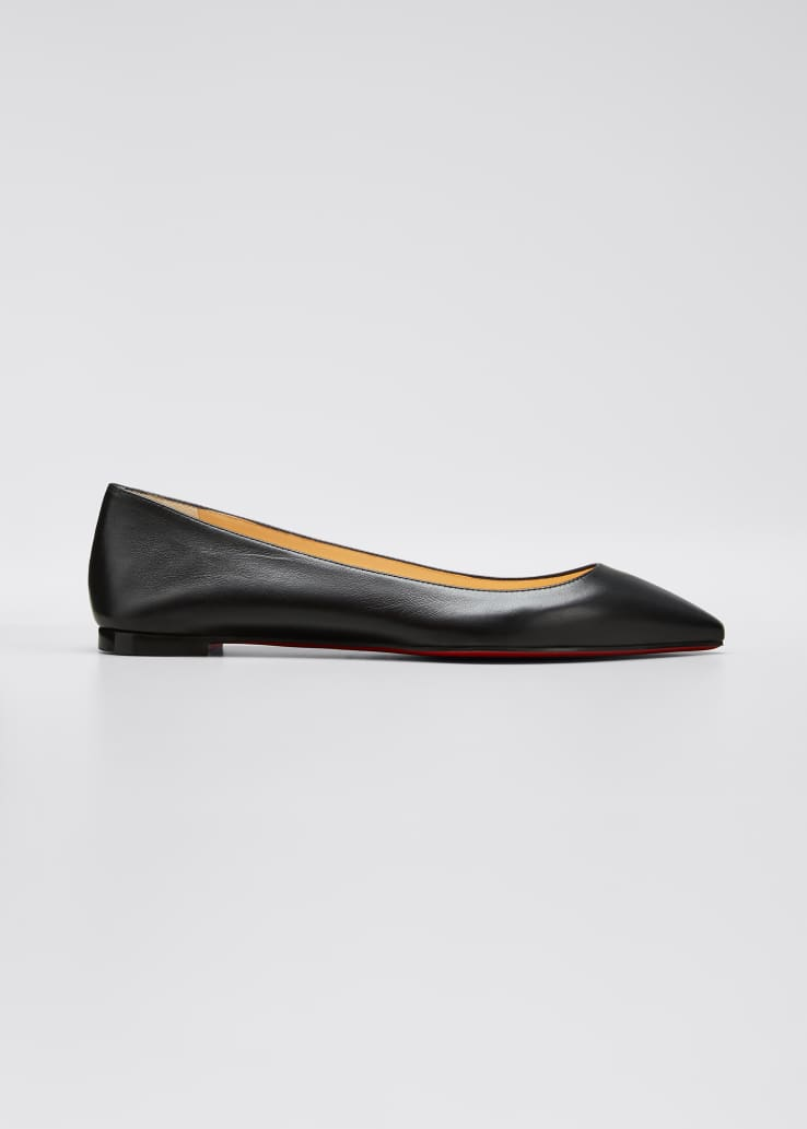 Ballalla Smooth Leather Red Sole Ballet Flats