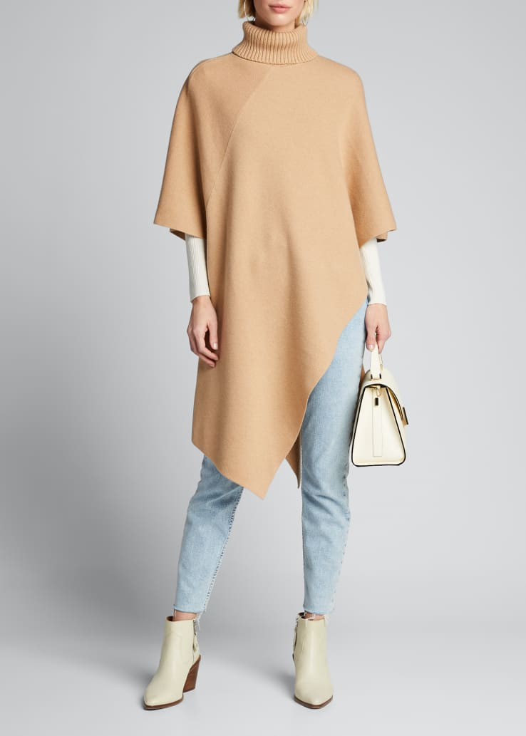 Cashmere Turtleneck Cape