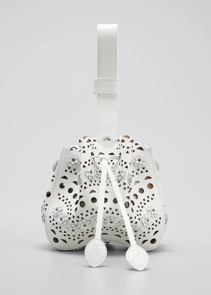 Rose Marie Laser-Cut Bucket Bag