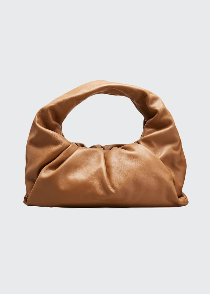 Small Butter Napa Shoulder Hobo Bag