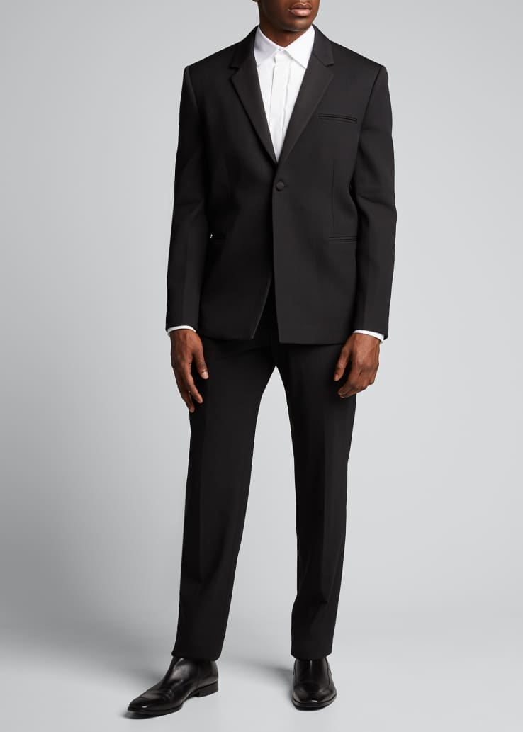Men's Solid Wool Tuxedo Jacket