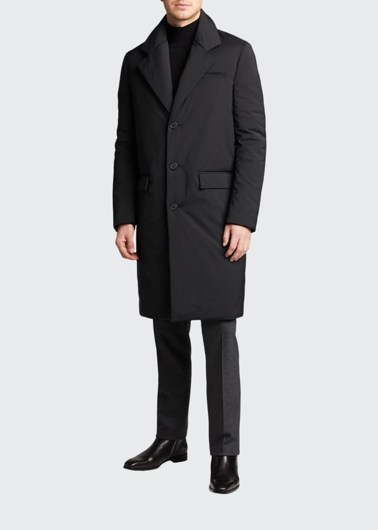 Men's Padded Tailored Overcoat