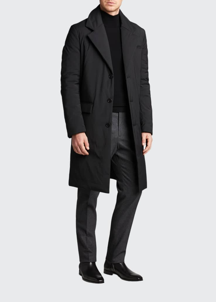 Men's Classic Cashmere-Blend Straight-Leg Pants