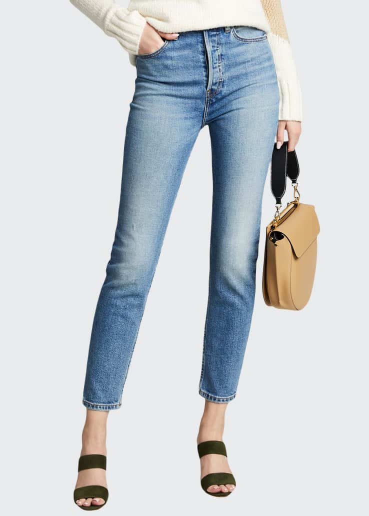 Ultra High-Rise Ankle Cropped Skinny Jeans