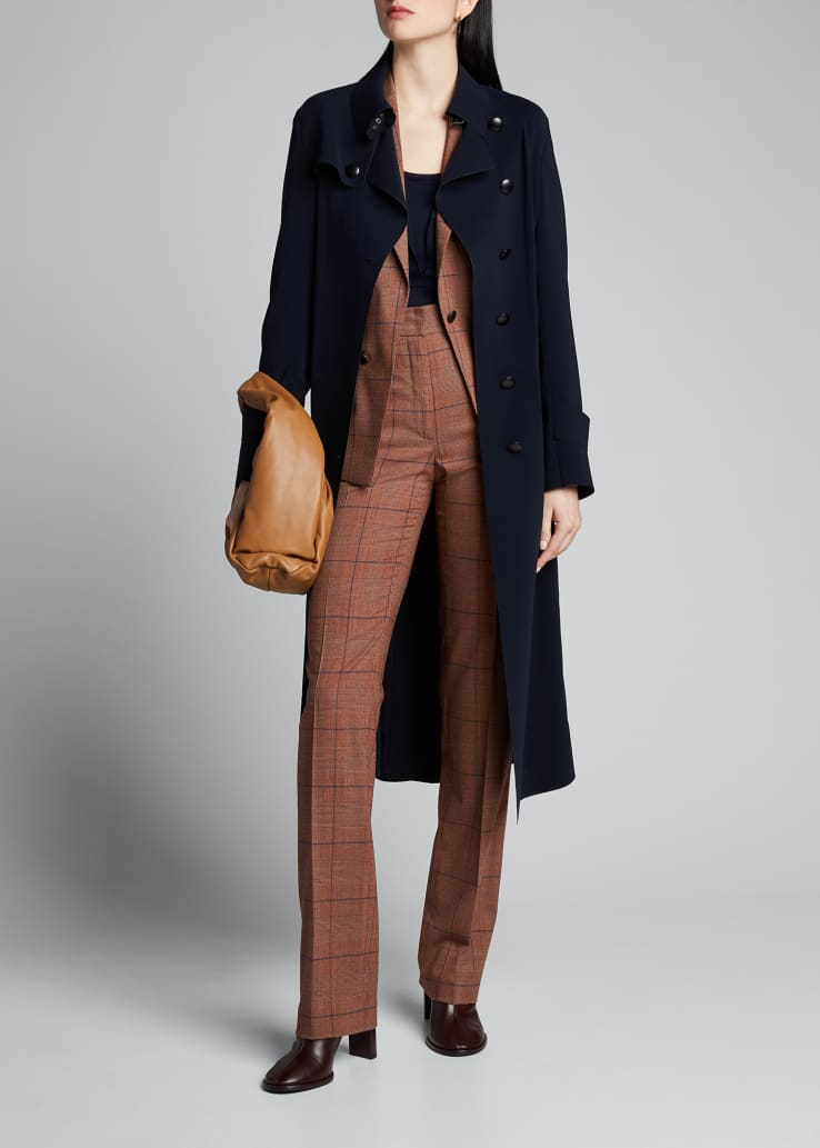 Chiyo Pebbled Crepe Glen Check Pants