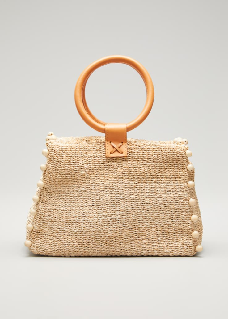 Perry Mini Woven Tote Bag