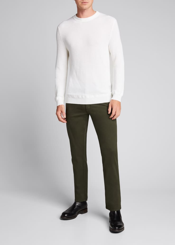 Men's 5-Pocket Twill Regular-Fit Pants