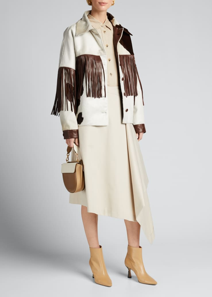 Taylor Leather Fringe Coat