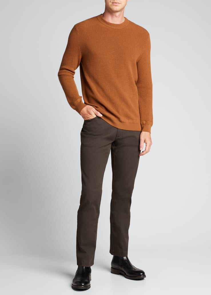 Men's Solid Wool-Cashmere Knit Sweater