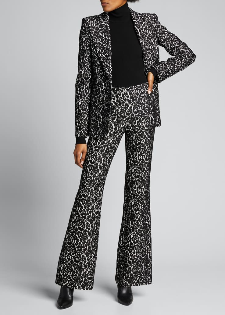 Brooke Bonded Lace Side-Zip Pants