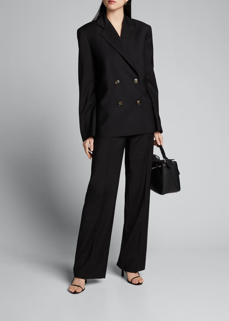 Pleated Suiting Pants