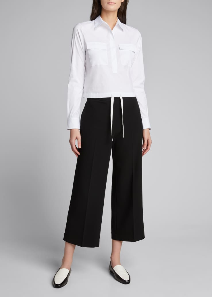 Wide-Leg Pull-On Admiral Pants