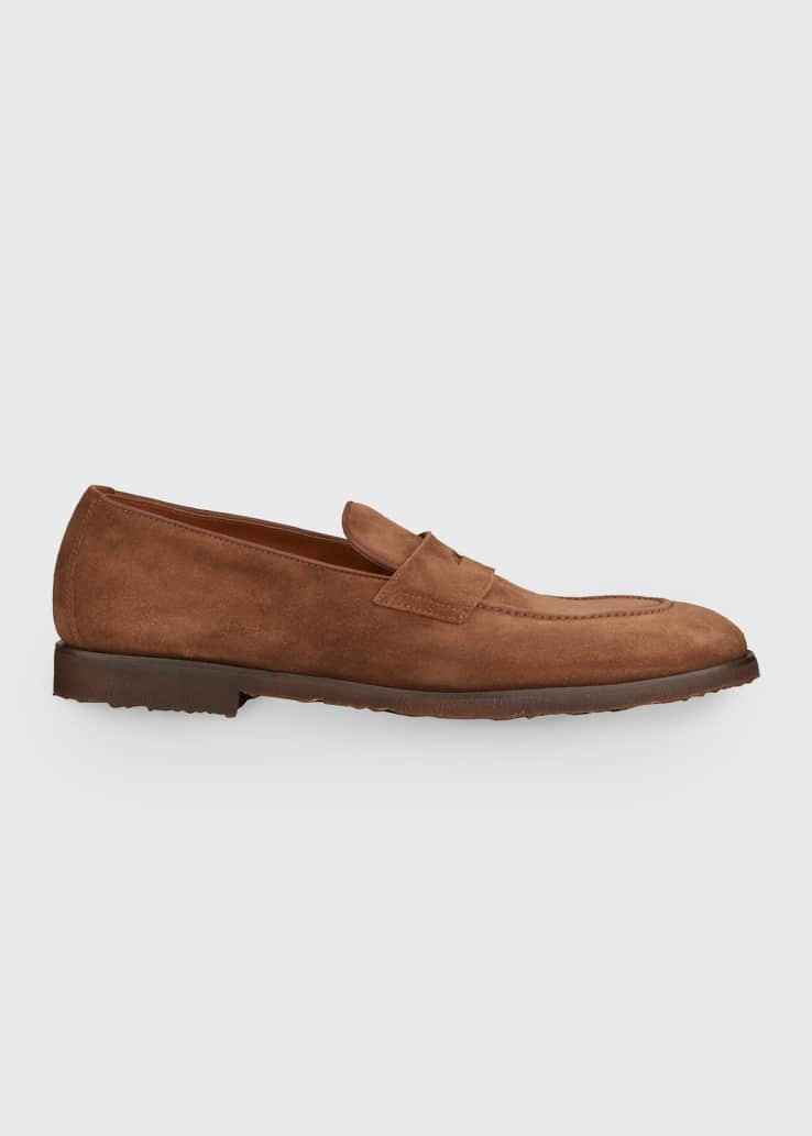 Men's Flex Sole Suede Penny Loafers
