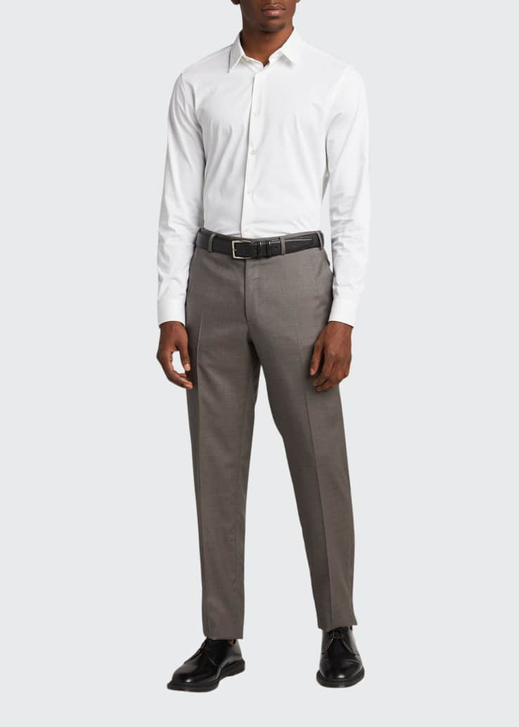 Men's Wool Twill FF Trousers