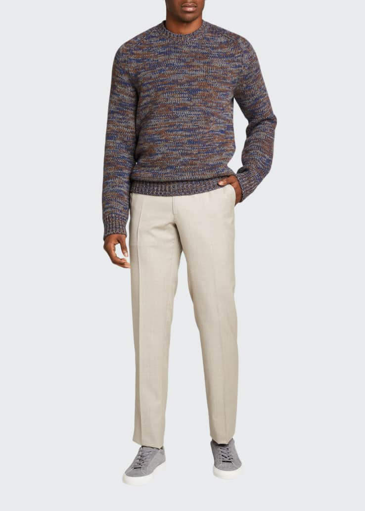 Men's Pleated Wool Trousers
