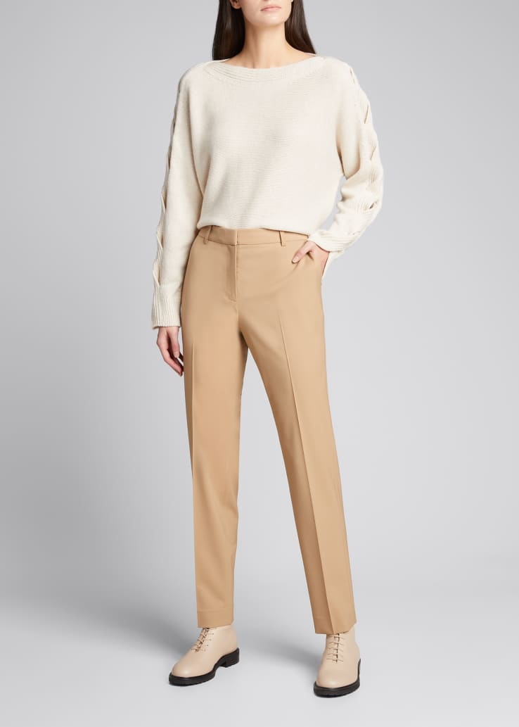 Clinton Italian Stretch Wool Ankle Pants