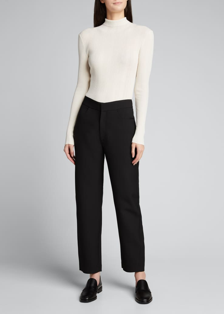 Narano Sheer Turtleneck Top