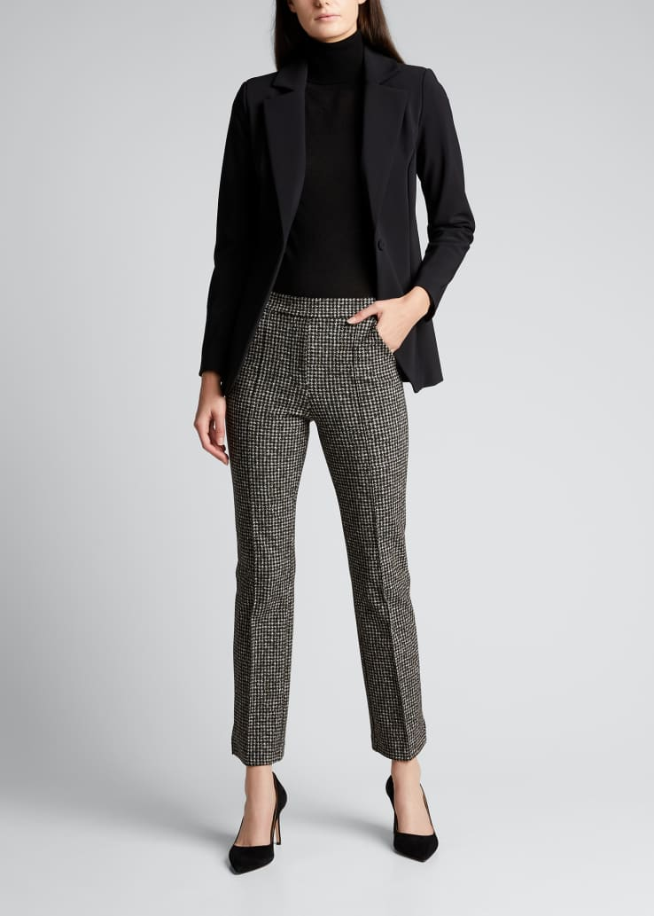 Nuccia Houndstooth Cropped Pants