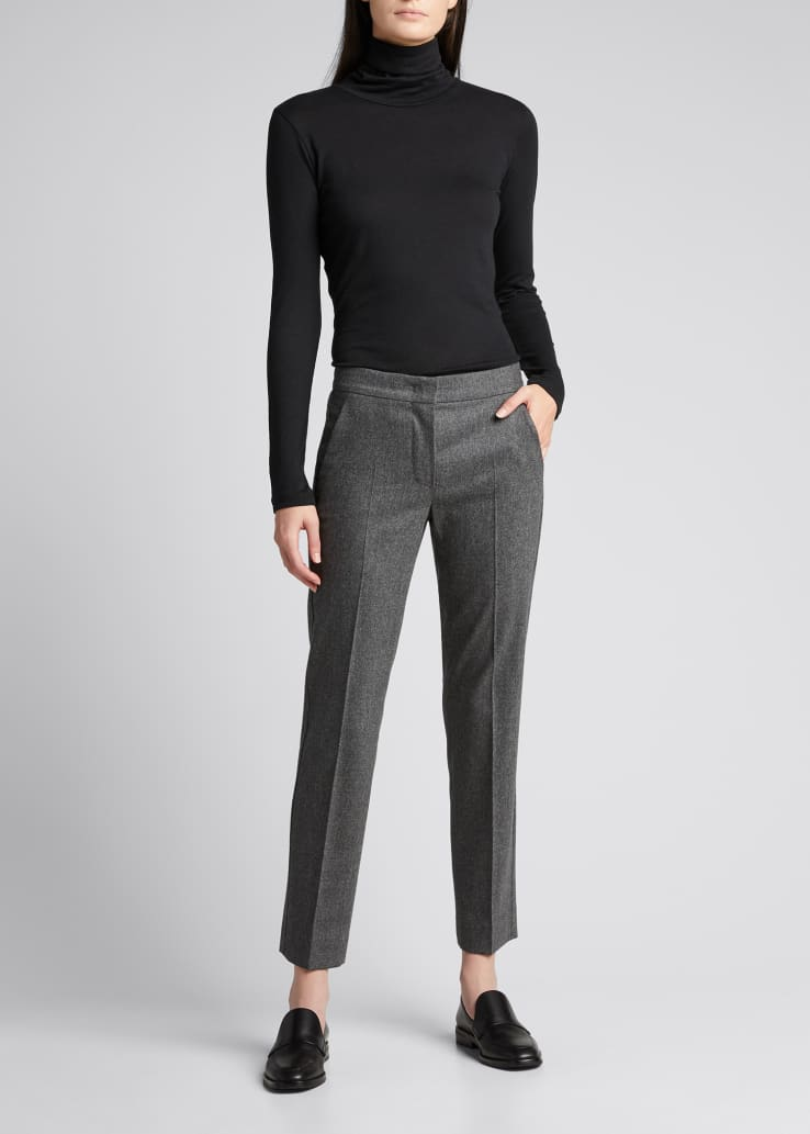 Abano Wool-Blend Ankle Trousers