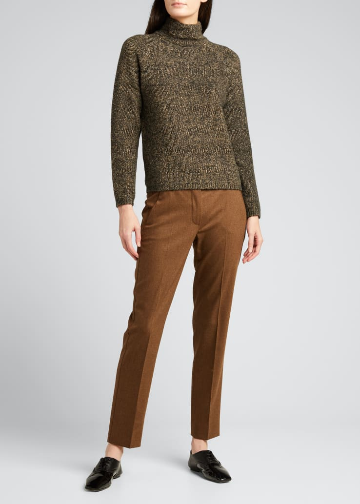 Laccato High-Neck Wool Sweater