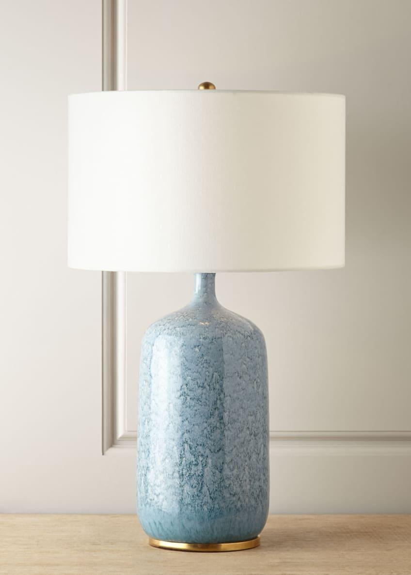 AERIN Culloden Blue Lagoon Table Lamp