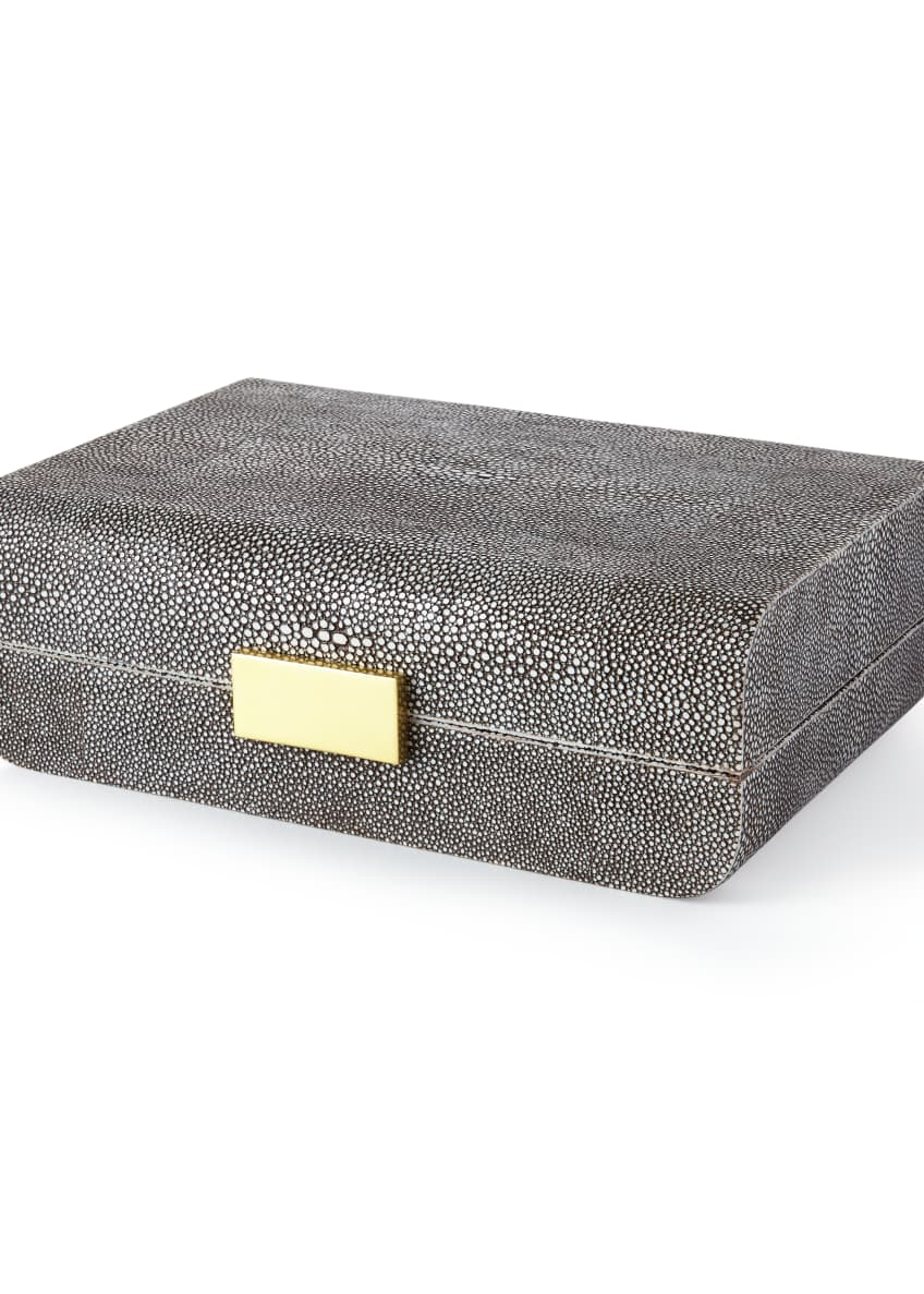 AERIN Chocolate-Shagreen Boxes & Matching Items