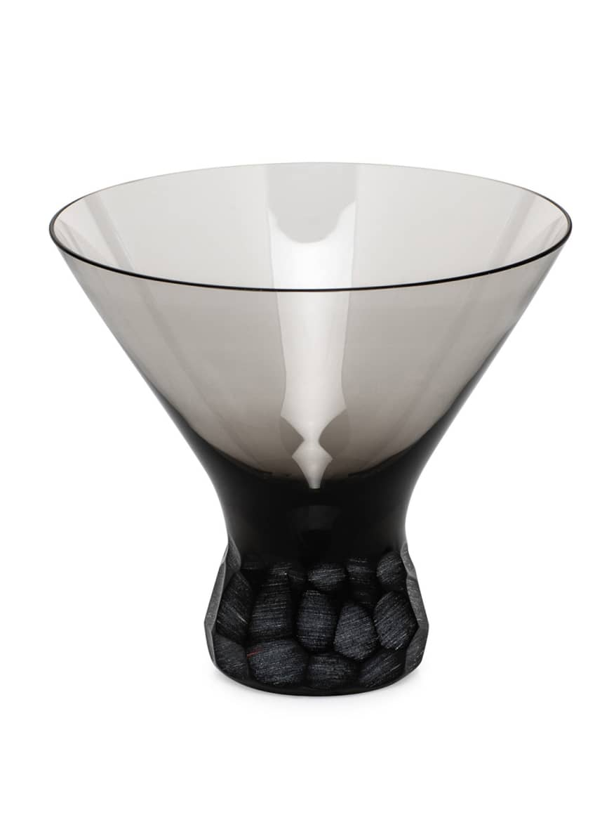 Moser Smoke Pebbles Stemless Martini