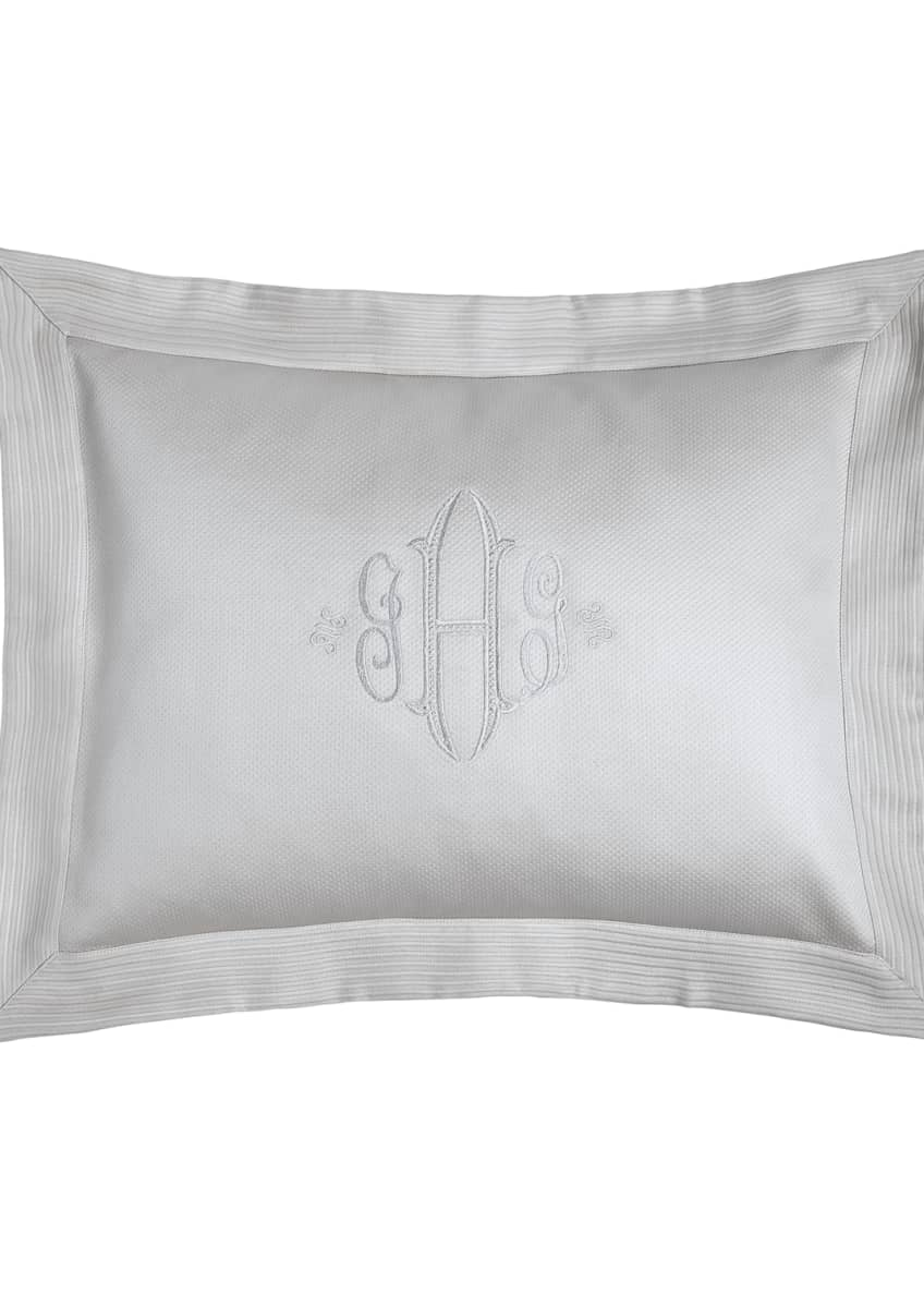 Image 1 of 1: King Angelina Pique Sham with Script Monogram