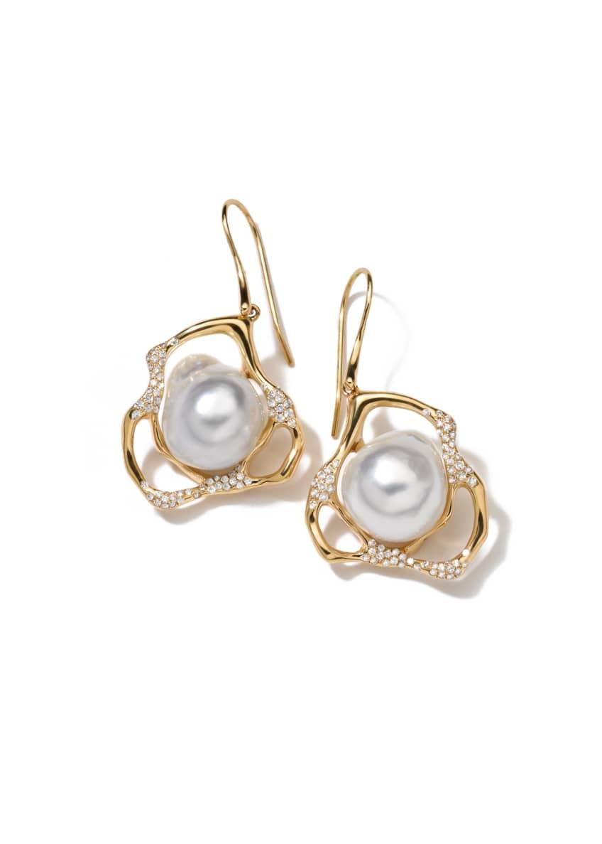 Ippolita Stardust Perla Drop Earrings with Diamonds