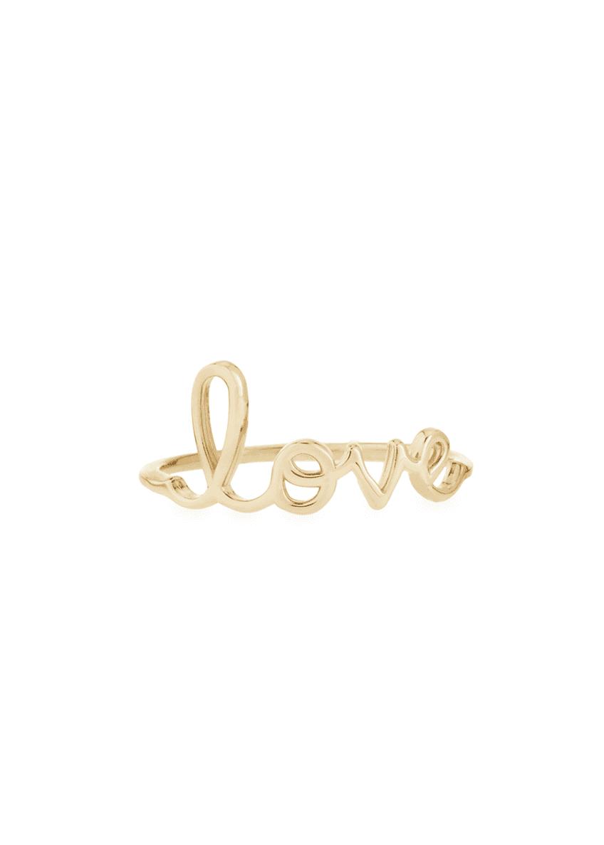 Sydney Evan 14k Yellow Gold Pure Love Script