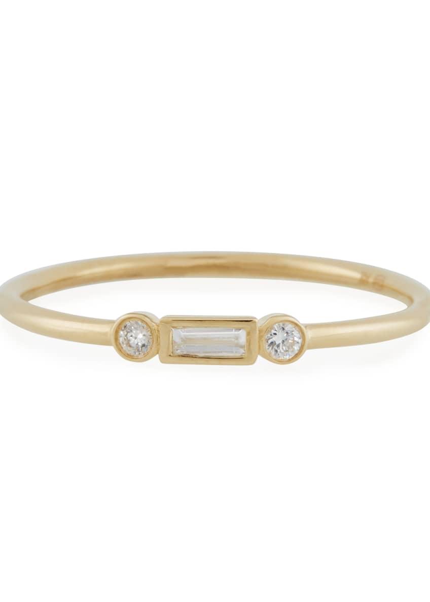 Sydney Evan 14k Baguette Diamond Stacking Ring