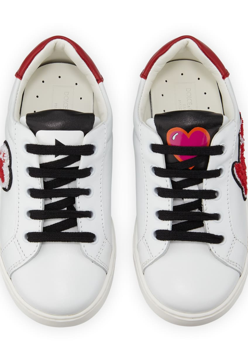 Image 3 of 5: Heart Love Sneakers, Youth