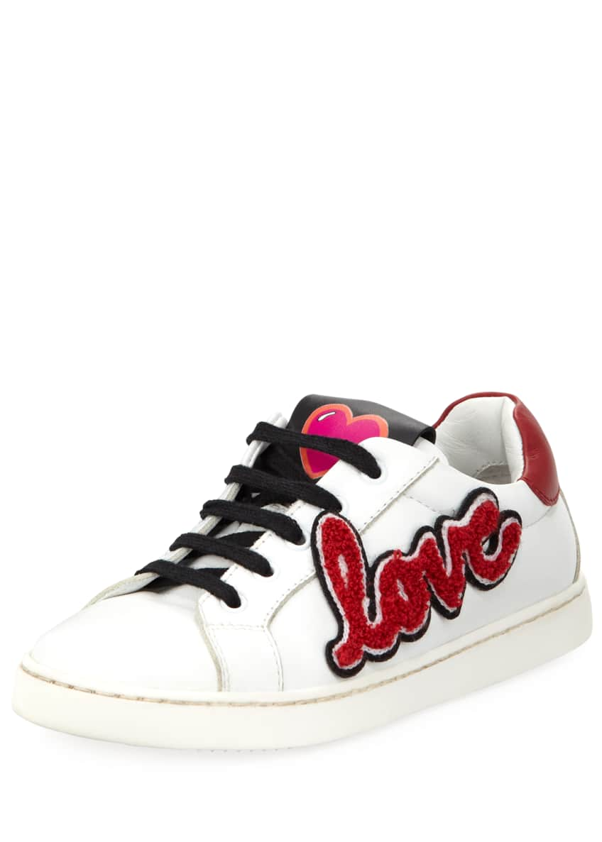 Image 1 of 5: Heart Love Sneakers, Youth