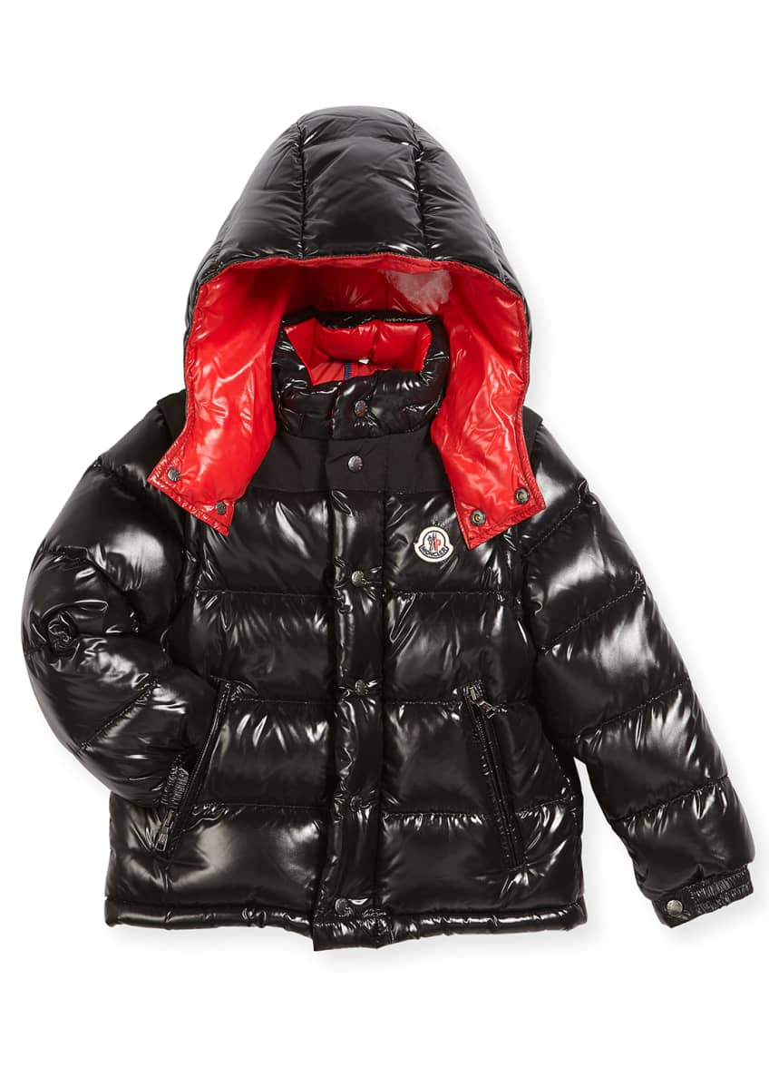 Moncler Andersen Quilted Coat w/ Contrast Lining, Size
