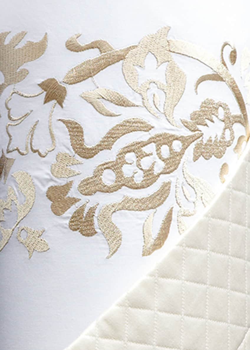 Image 2 of 2: Full/Queen Plumes Embroidered Duvet Cover