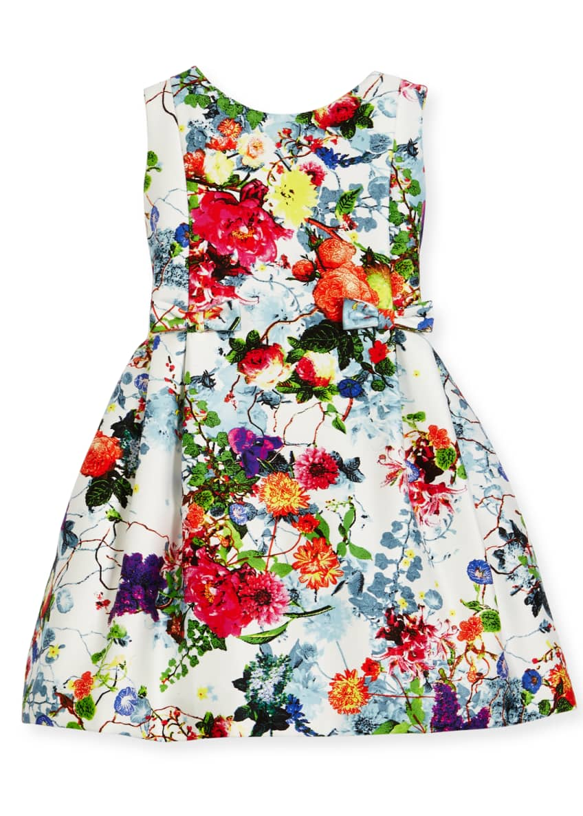 Helena Sleeveless Pleated Floral Dress, Size 7-14 &