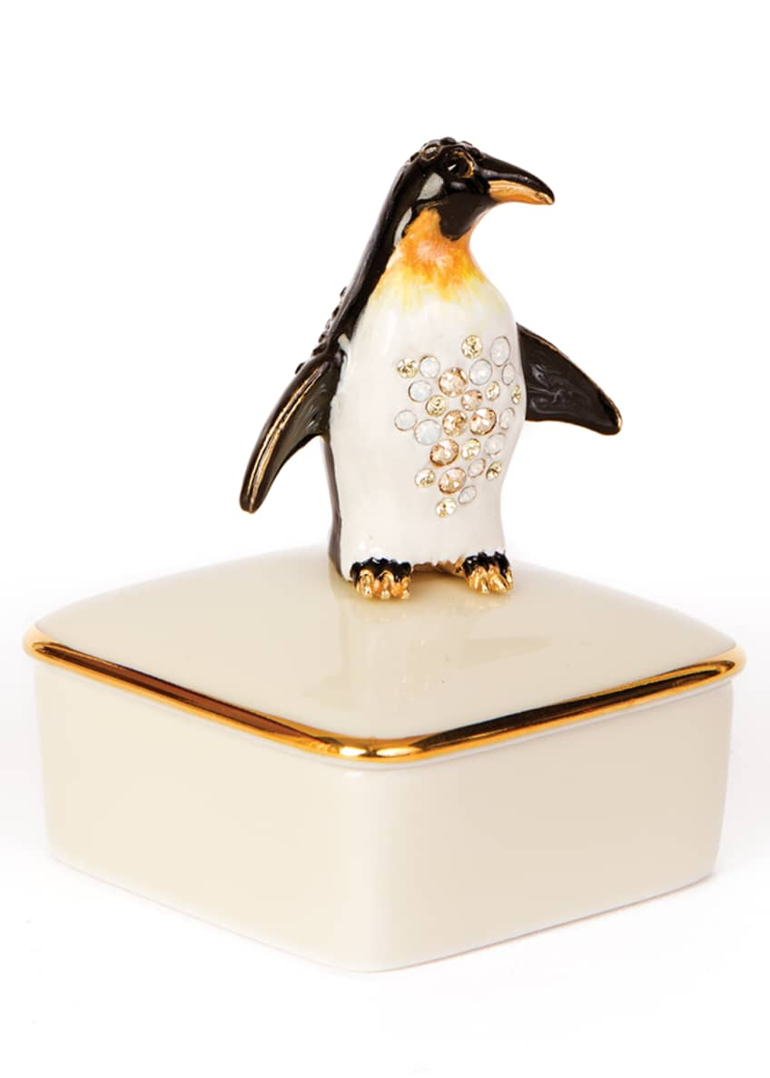 Image 1 of 1: Penguin Porcelain Box