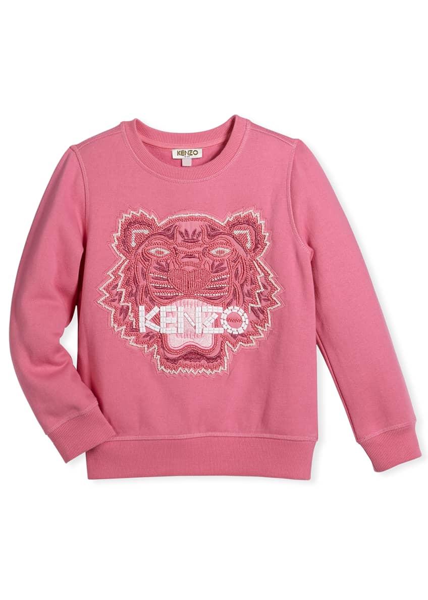 Kenzo Bubble Beads Tiger Sweatshirt, Size 8-12 &