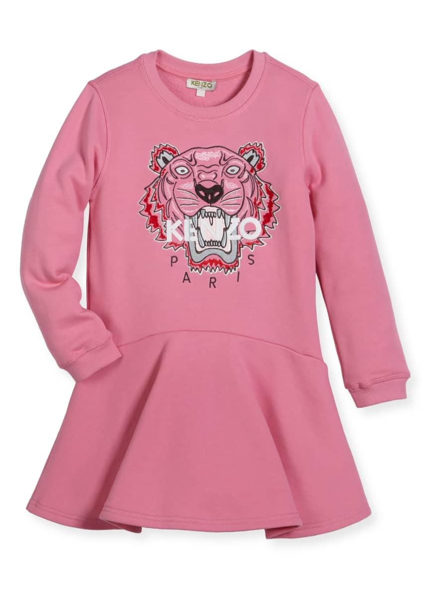 Kenzo Bubble Tiger Sweater Dress, Size 8-12 &