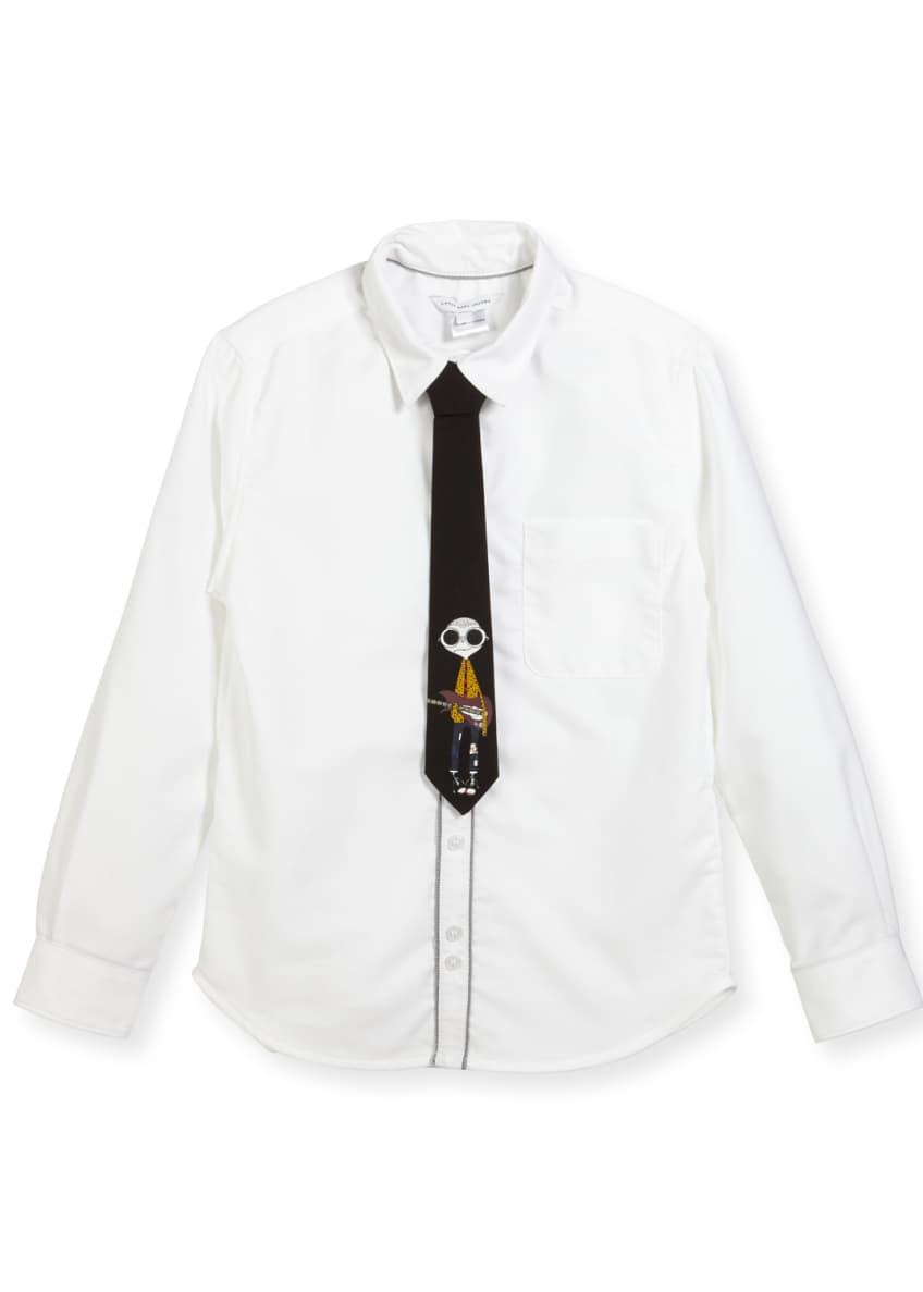 Little Marc Jacobs Long-Sleeve Oxford Shirt w/ Mister