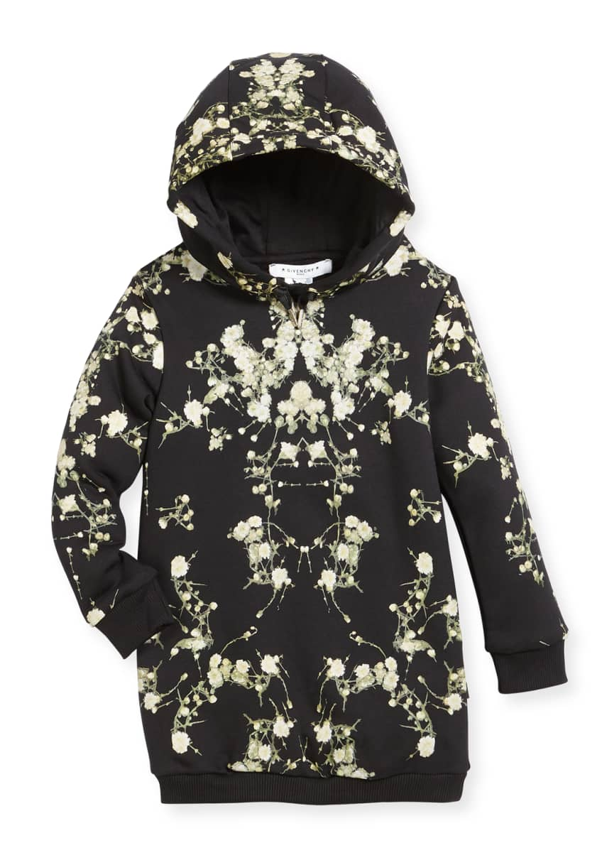 Givenchy Baby's Breath Hooded Sweatshirt Dress, Size 6-10