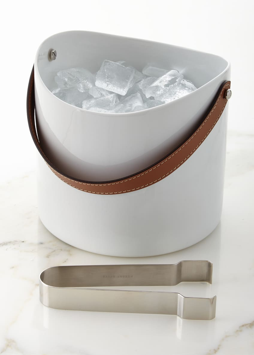 Image 1 of 1: Wyatt Ice Bucket and Tongs