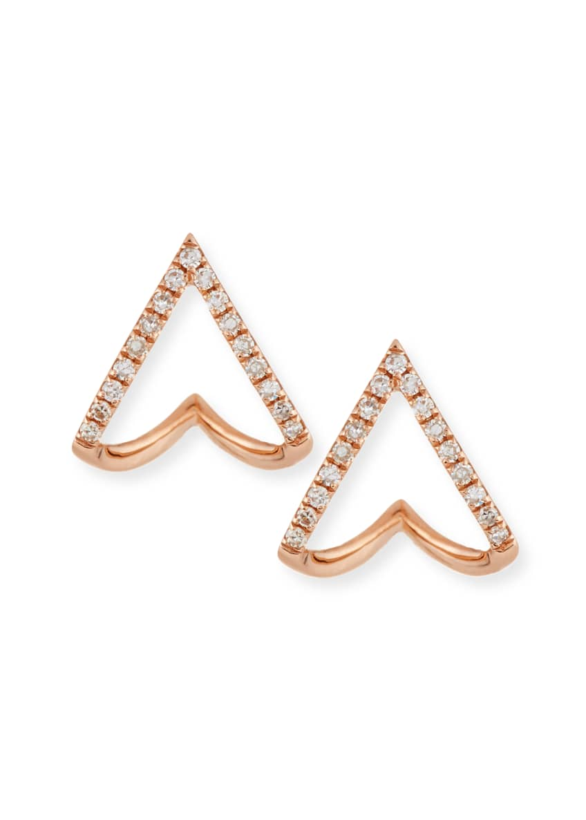 EF Collection 14K Gold Mini Chevron Wrap Stud
