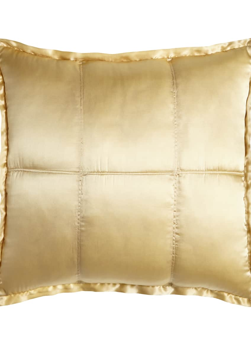 Image 1 of 3: Reflection Quilted Silk European Sham