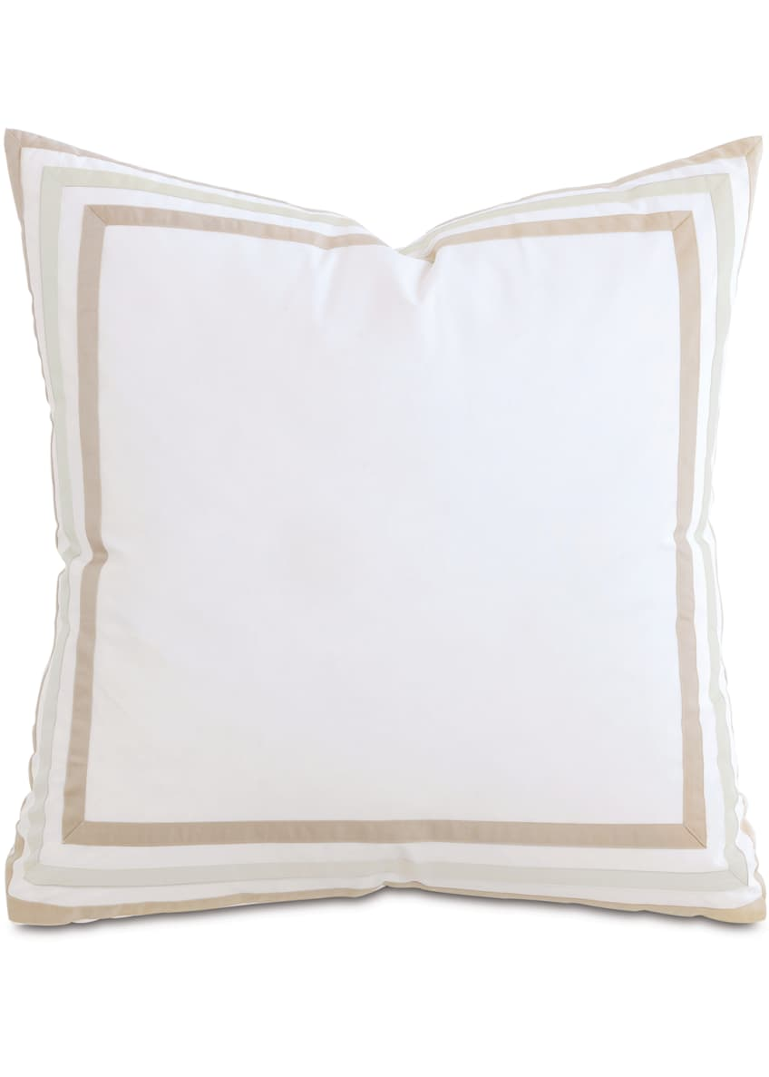 Image 1 of 1: Watermill Taupe European Sham