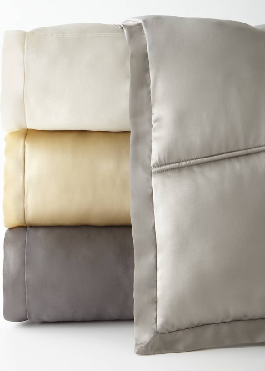 Donna Karan Home Reflection Standard Quilted Silk Sham